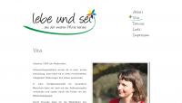 Webseite von lebe und sei